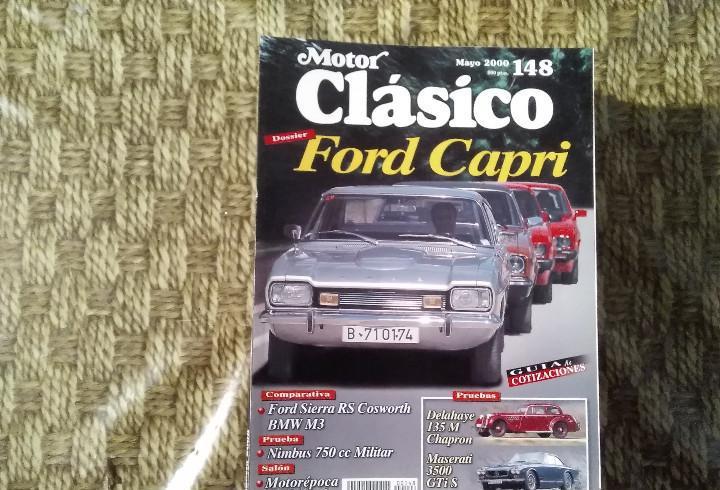 Revista motor clásico - nº 148 - mayo 2000 - ford capri