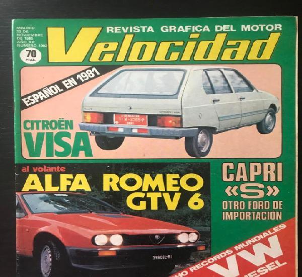 Velocidad nº 1002 - alfa gtv 6 ford capri s citroen visa