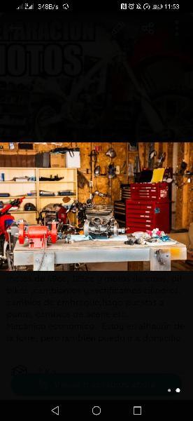 Se reparan máquinas desbrozadoras, motos etc..
