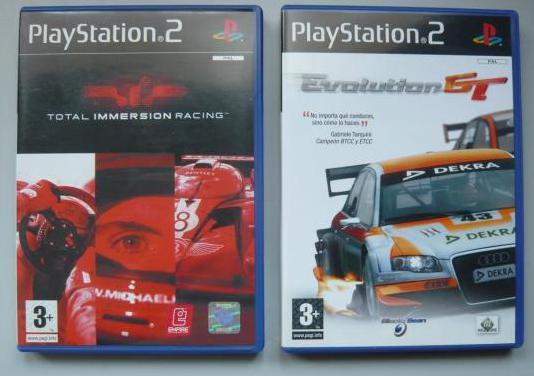 2 juegos coches play station 2