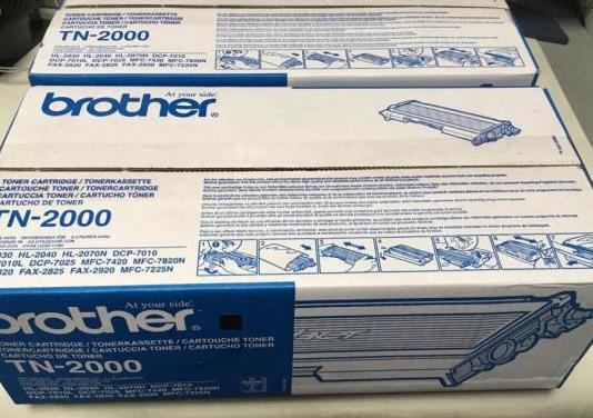 2 toner para impresora brother tn 2000