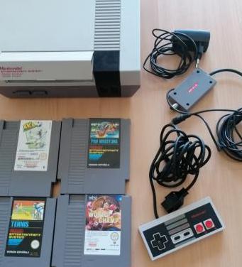 Consola original nintendo nes con juegos pal b