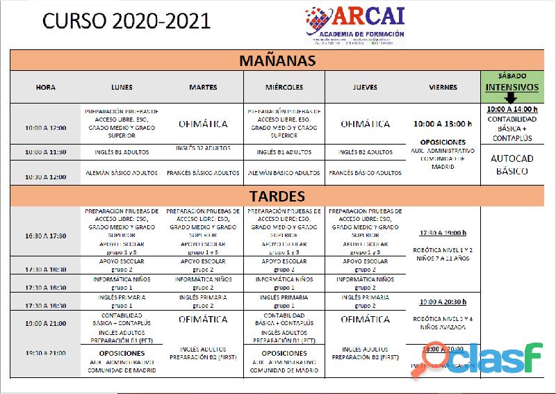 CURSOS 2020/2021