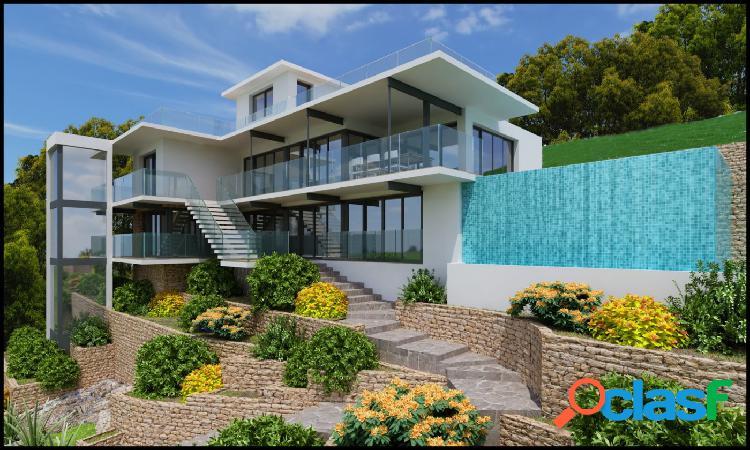 Chalet para reformar con proyecto para villa de lujo con vistas al mar en benidorm