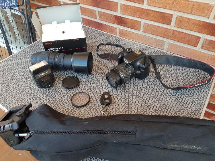 Canon eos 1100d, objetivo 70-300 sigma sin af