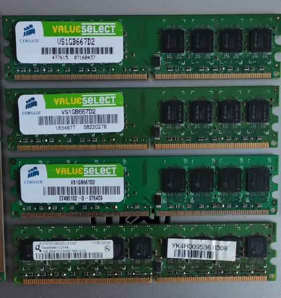 Memorias ram dd2 pack de 6 modulos.