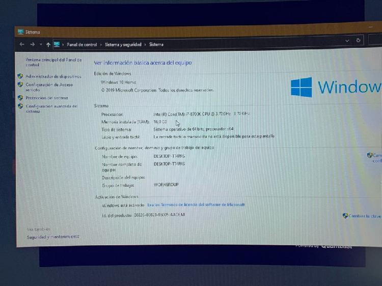 Pc gamer alto rendimiento y monitor msi