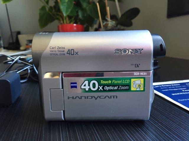 Sony videocámara mini dv dcr-hc51