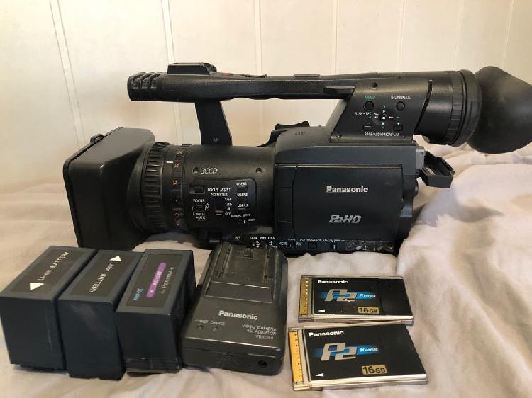 Videocámara panasonic p2+2tarjetas 16gb+3 baterías