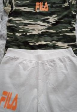 Camisetas y pantalones cortos adidas y fila
