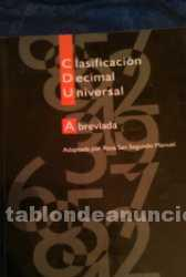 Clasificación decimal universal abreviada
