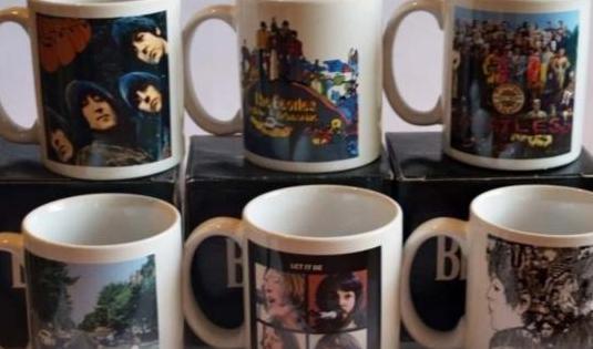 Colección tazas los beatles