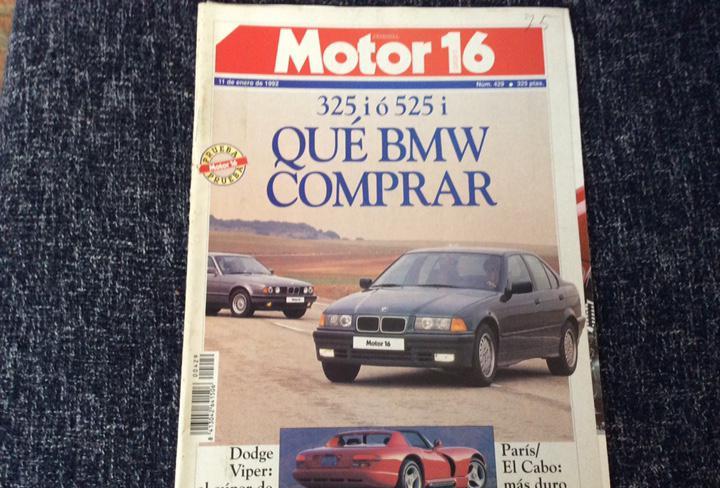 Motor 16 nº 429 año 1992. compartiva: bmw 325 i y bmw 525