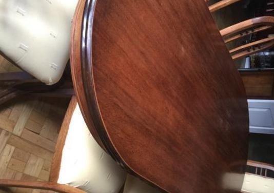 Mesa comedor y 6 sillas madera maciza de nogal