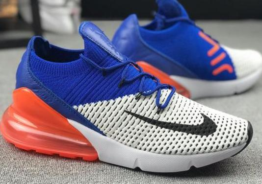 Nike air max 270 flyknit (blue orange)