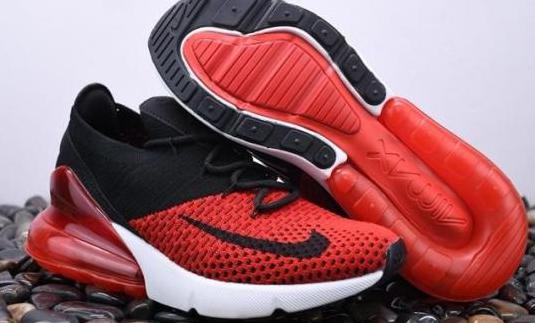 Nike air max 270 flyknit (red black)