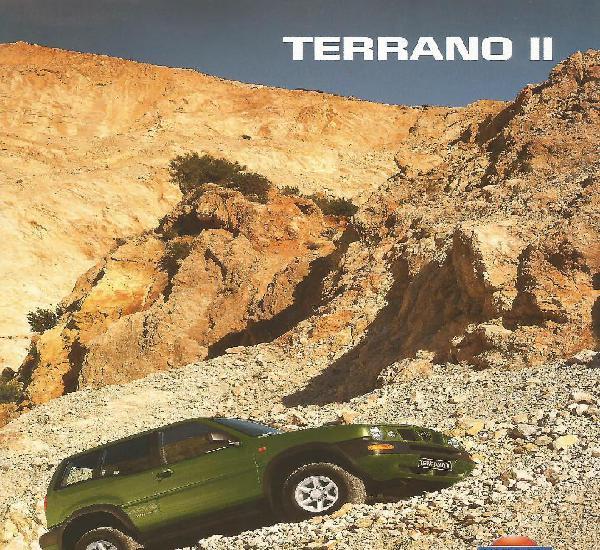 Nissan terrano ii catálogo 34 páginas, en español,