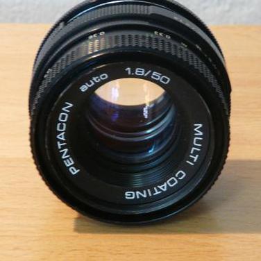 Objetivo pentacon fd 50 mm f/1.8-defectuoso