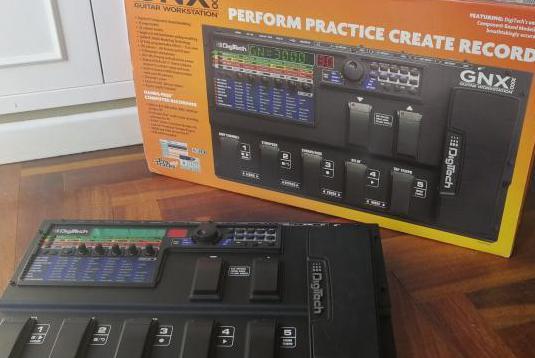 Pedalera workstation para guitarra y bajo gnx3000