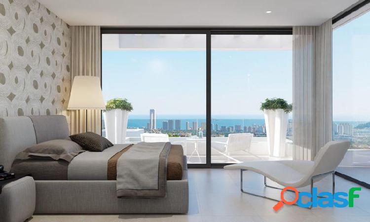Villa de 3 dormitorio, 4 baños, vista al mar, piscina privada en Finestrat 1