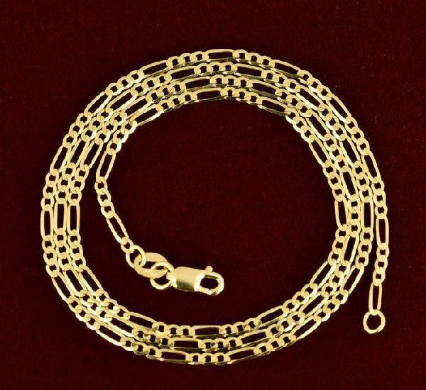 Cadena collar de oro amarillo de 18k - 50 cm. peso 3.22 gr.