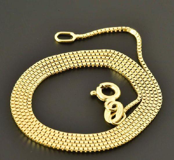 Cadena de oro amarillo de 18 quilates - 50 cm. peso 3.1 gr.