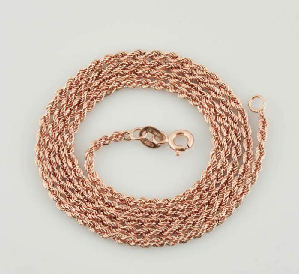 Cadena de oro rosa de 18 quilates - 45 cm. peso 2.6 gr.