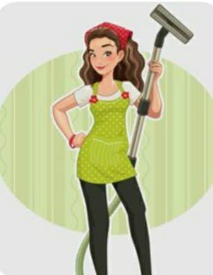 Chica española limpiadora