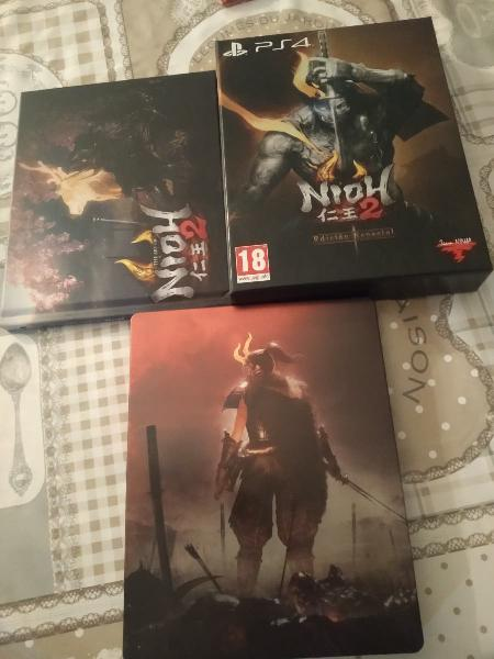 Extras (no juego) edición especial nioh 2 ps4