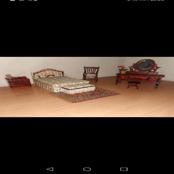 Habitación doble casa muñecas.