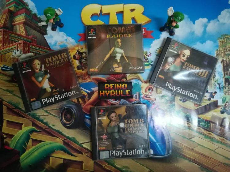 Lote pack tomb raider ps1