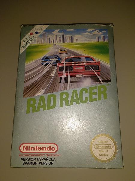 Nintendo nes rad racer.