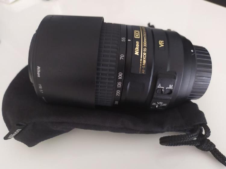Nikon af-p 70300mm f/4.55.6e ed vr teleobjetivo