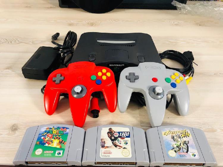 Nintendo 64+2 mandos+3 juegos