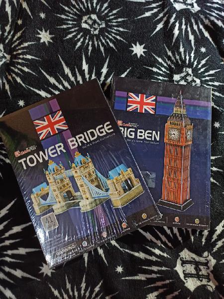 Pack puzzles 3d big ben y tower bridge