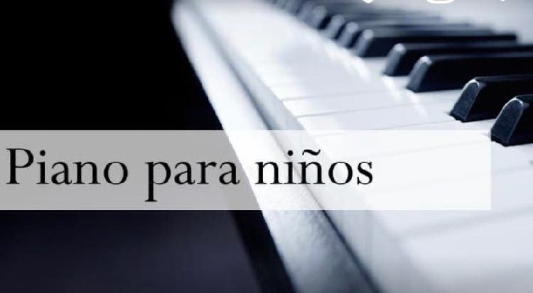 Se dan clases musicales y piano para niños