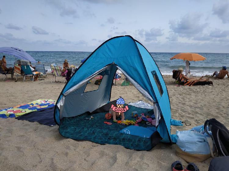 Tienda de playa parasol para bebé
