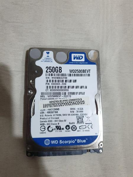 Disco duro interno o externo 250 gb