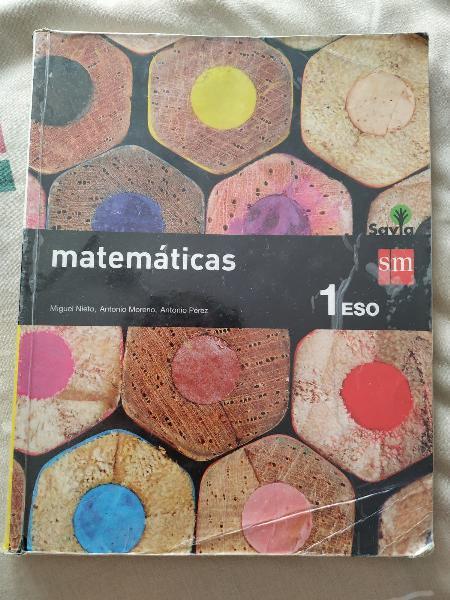 Libro matemáticas 1 ° eso editorial sm