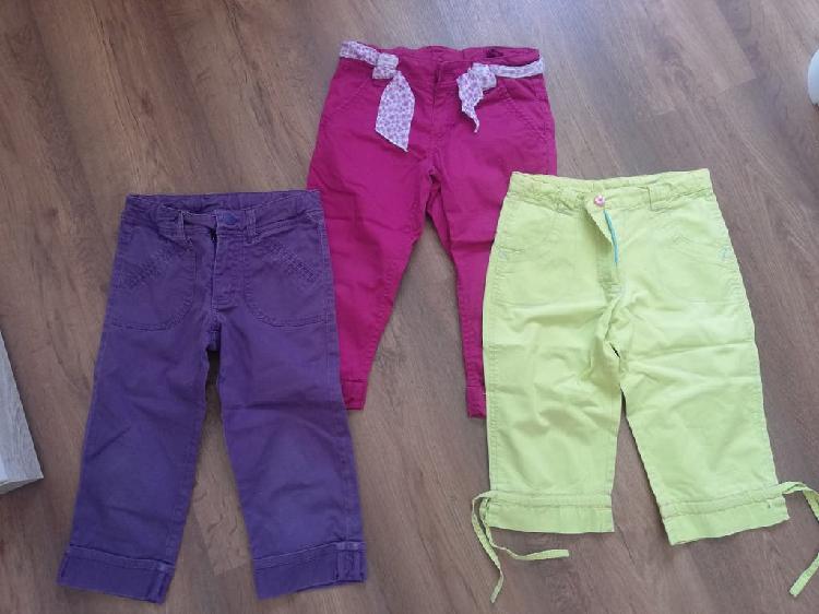 Lote oportunidad 3 pantalones niña 6-7 años