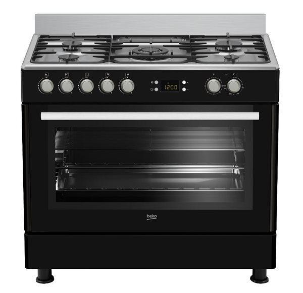 Beko gm15310db - cocina multifunción negro clase b 4 gas +