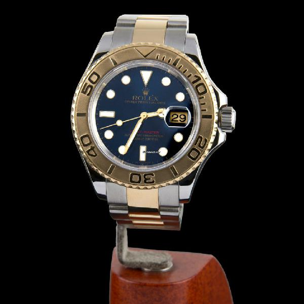 Rolex oyster perpetual date yacht-master steel and gold men