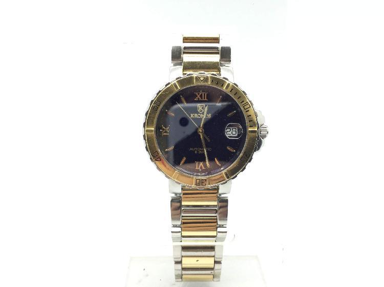 Reloj alta gama caballero otros k-200 steel & gold