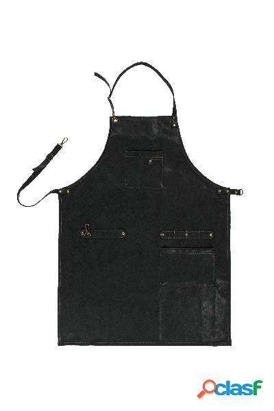 Delantal de cocina de cuero sintético negro tiseco (64 x 85 cm)