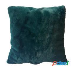 Cojín de pelo sintético azul verdoso olga (40 x 40 cm)