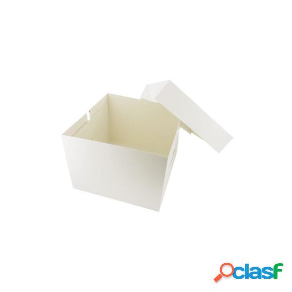 Caja transportadora de cartón blanco patisdecor (36 x 36 x 22 cm)
