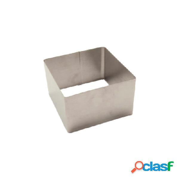 Molde cuadrado para emplatar de acero inoxidable (7 x 7 x 5 cm)