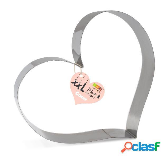 Molde cortapasta corazón de acero scrapcooking (24 x 27 x 5 cm)