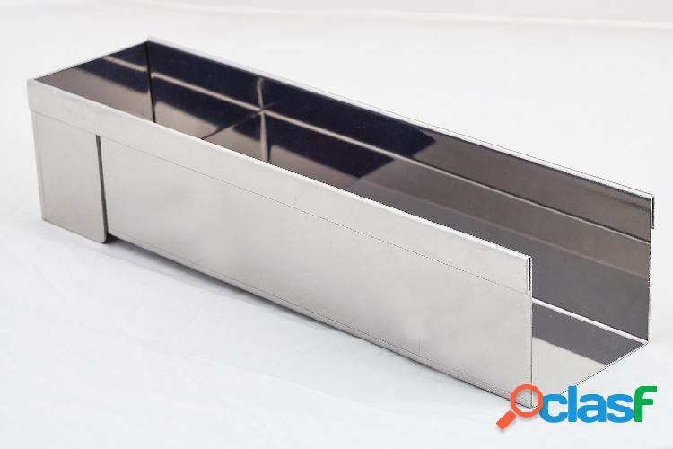 Molde desmontable en acero inoxidable (30 x 8 x6 cm)