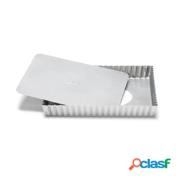 Molde desmontable rizado aluminio antiadherente (21 x 21 x 3 cm)